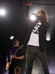 Chris Cornell of Soundgarden performs Sunday night