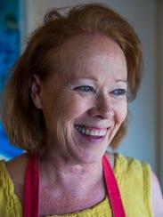 Local artist Bonny Hawley in her art studio in Naples