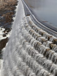 The New Croton Dam at Croton Gorge Park in Croton-On-Hudson