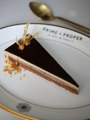 Peanut butter pave ($15) from Prime + Proper, a fine-dining