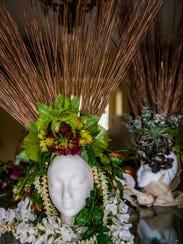 A custom head dress by Katie Vance in her East Naples