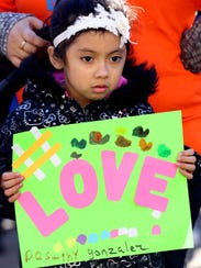 Destiny Gonzalez, 5, of Spring Valley was among several