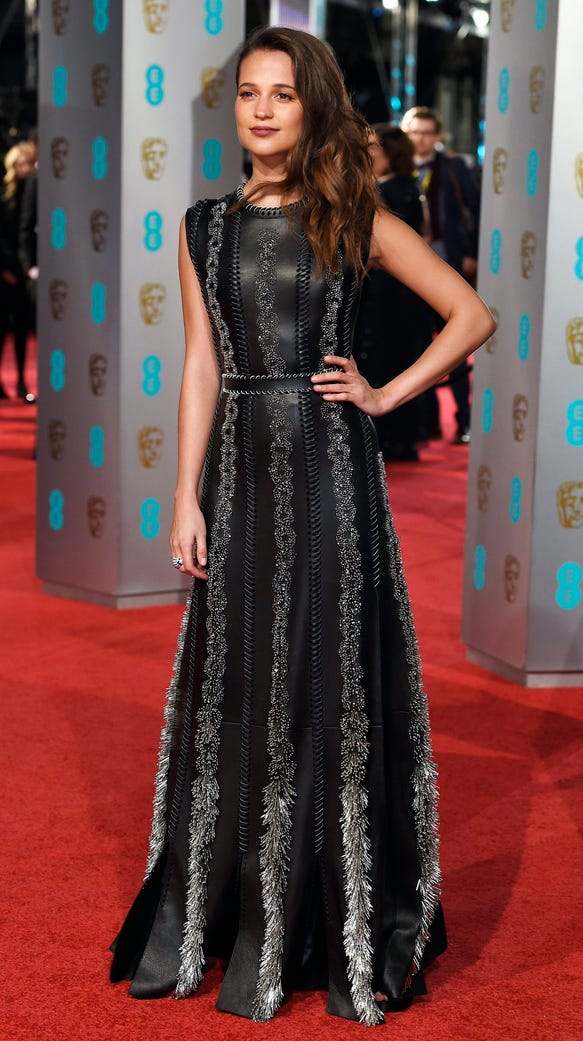 Alicia Vikander arrives for the 69th annual British