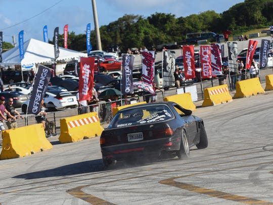 Proline held a drift show during the international auto showcase Offset Kings at Guam International Raceway in Yigo in this  Jan. 9, 2016 file photo.
