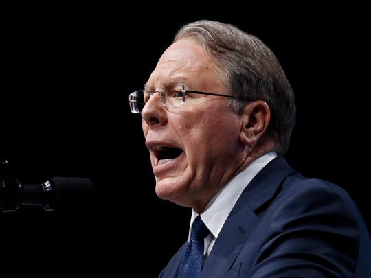 NRA Executive Vice President Wayne LaPierre speaks to the NRA Forum in 2018.
