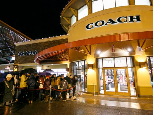 coach outlet stores locations 1hks  A long line forms outside of Coach at Woodburn Premium