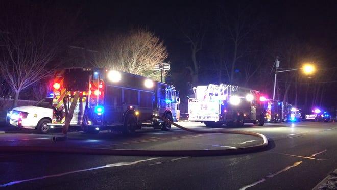 The Cedar Grove Fire Department responds to a dryer fire on Pompton Avenue Monday night, Dec. 19, 2016.