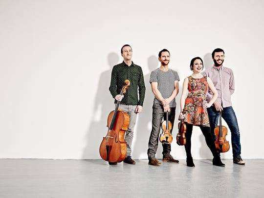 The Heath Quartet begins its residency tonight at Middlebury College.