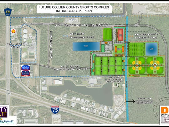 Sports complex initial concept plan.