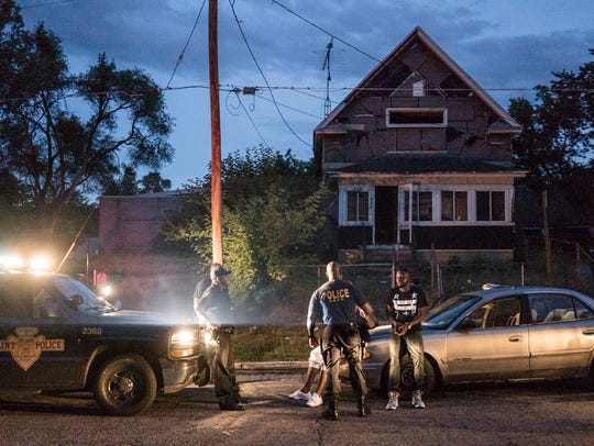 "A scene from the Netflix series ""Flint Town."""