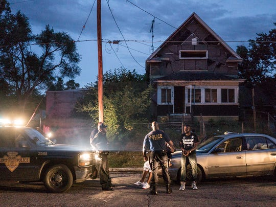 "Police in Flint make an arrest in the Netflix series ""Flint Town."""