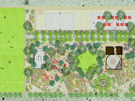 Rendering of the North Shore Community Park prior to its Oct. 12 ribbon cutting.
