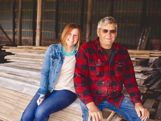 Dawn Backes and Dan Klimesh comprise the father/daughter team at Northeast Iowa Architectural Salvage & Skräp Work.