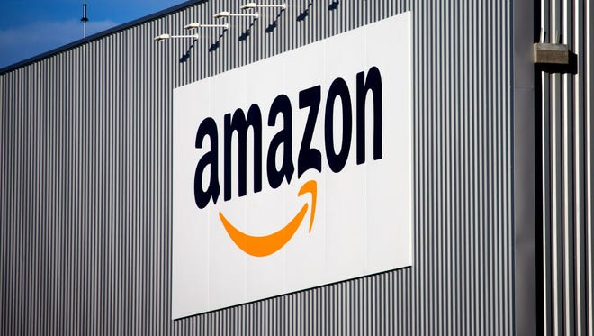 The Amazon logo is seen on the new logistics center of online merchant Amazon in France. Amazon is a major presence in online retail overseas, with the United Kingdom, German and Japan being its largest non-U.S. markets.
