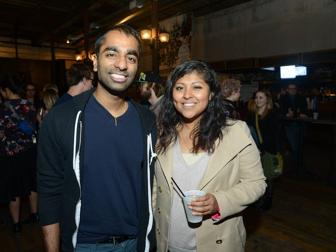 Ashor Chirackal, 26, and, Gloria Melo, 25, at Wooly's
