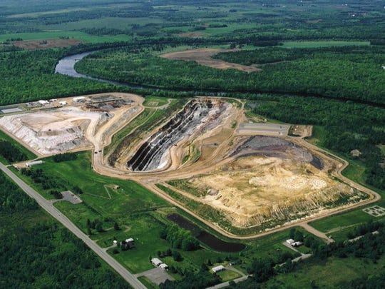 This photo shows the Flambeau mine during its operation from 1993 to 1997. Metallic mining has seen little activity in Wisconsin after the Flambeau Mining Co. ore mine closed in 1997 after four years of operation. The site was reclaimed in 1999.