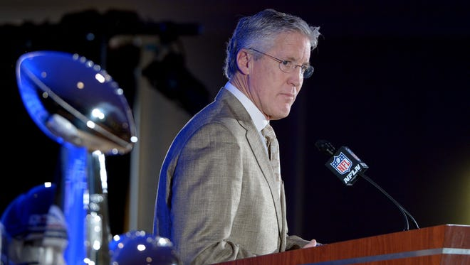 Seahawks coach Pete Carroll expects to bring multiple Lombardi Trophies back to Seattle.