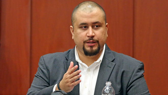 "In this Sept. 13, 2016, file photo, George Zimmerman looks at the jury as he testifies in a Seminole County courtroom in Orlando, Fla. A judge overseeing a misdemeanor stalking charge involving former neighborhood watch volunteer Zimmerman warned attorneys not to attempt to retry a previous murder case that ended with his acquittal. The judge on Wednesday, June 27, 2018, told attorneys at Zimmerman's pretrial hearing not to ""open old wounds."""