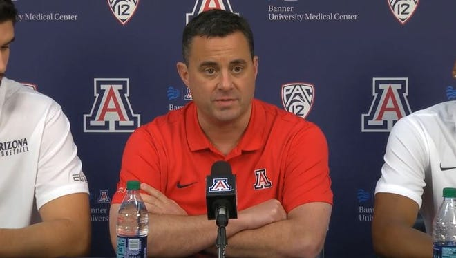 Arizona Wildcats coach Sean Miller held a media session in Tucson on Thursday, Oct. 5, 2017.