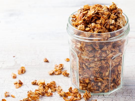 Granola offers nutrients but can be high in sugar.