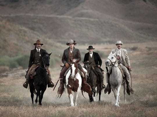"""In the Old West, a sheriff , his deputy, a gunslinger,and a cowboy embark on a mission to rescue three people from a savage group of cave dwellers in """"Bone Tomahawk."""""""