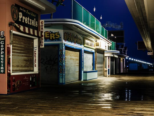 A view on the Seaside Heights boardwalk.