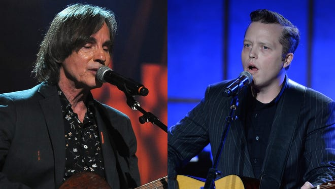 Jackson Browne (left) and Jason Isbell are among the artists hitting the Fox Valley this weekend.