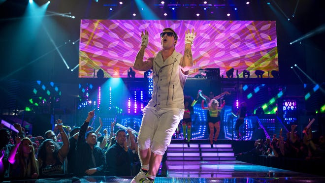 "Andy Samberg in a scene from the Universal Pictures film, ""Popstar: Never Stop Never Stopping."""