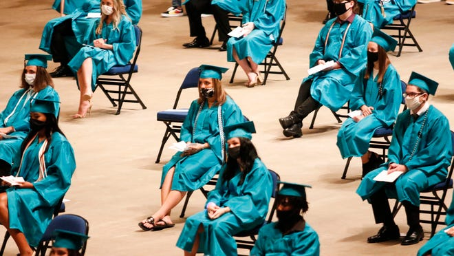 Graduation ceremonies for students from Atlantic High School were held Friday, July 10, 2020 at the Ocean Center in Daytona Beach.