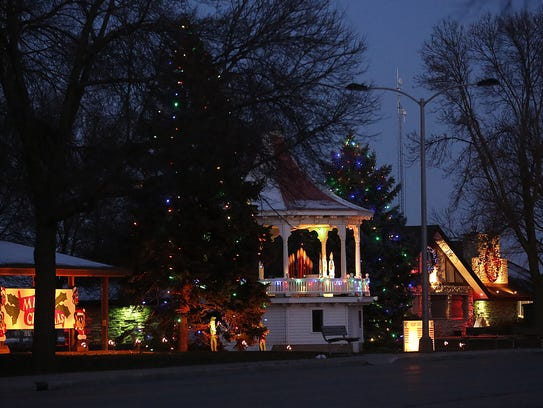 The holiday light display at Lakeside Park in Fond