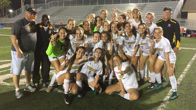 Bishop Verot defeated Tampa Academy of the Holy Names 2-1 at home Tuesday, Feb. 13, 2018, in the Region 2A-3 final to advance to the third state Final Four in program history.