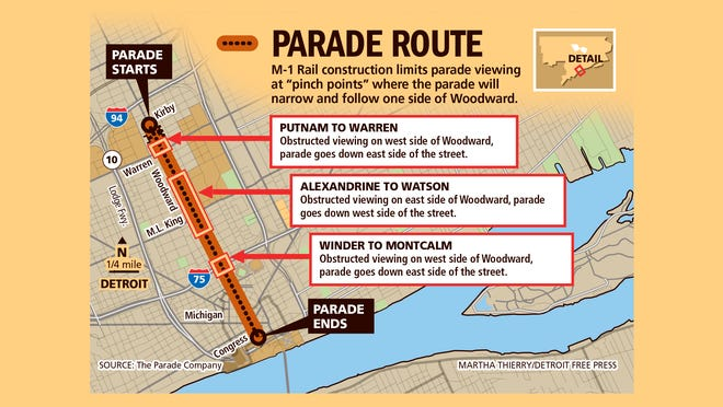 Parade Route for the 2014 America's Thanksgiving Parade