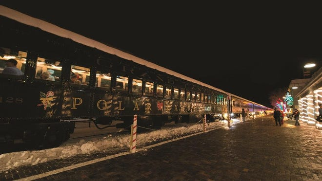 """All aboard for a magical moonlight wilderness ride to the Grand Canyon's """"North Pole"""" on the historic Grand Canyon Railway."""