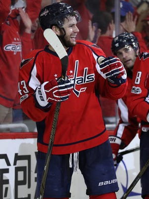 Washington Capitals forward Tom Wilson had seven goals in the regular season.