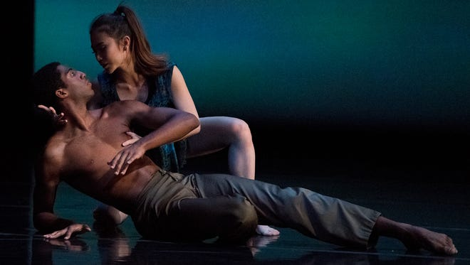 "Derek Brockington recently completed his second season as a member of Cincinnati Ballet's Second Company. On June 4, he takes the next step in his career by joining the 16-member Dance Theatre of Harlem. Here, Brockington is seen with Yu-Ting Huang, performing in ""Collide,"" performed by CB II at part of 2017's ""Blink"" festival."