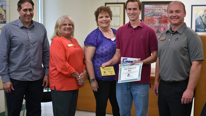 Jack Holmquist is named New Mexico State University-Alamogordo's student of the month.