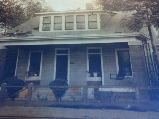 This is a picture of the home where Mitchell Spellman was born when it was located on Washington Street where the downtown library was built in 1965. Records from the Rapides Parish assessor's office show the home last being assessed to Dr. Frank Spellman in 1956.