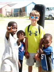Gabriel Stevens also has made some friends fast in Haiti.