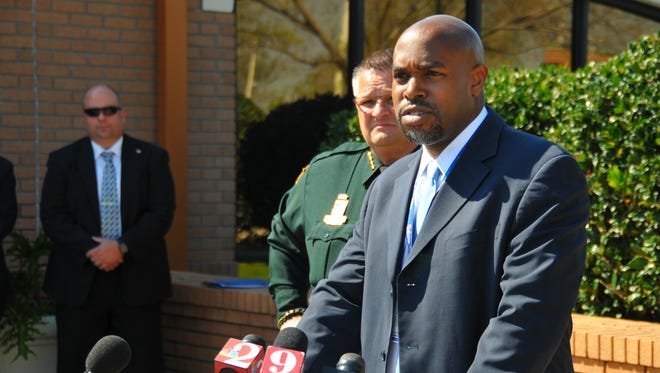 Brevard County Sheriff Wayne Ivey and Brevard County Public Schools Superintendent Desmond Blackburn conduct a joint news conference Wednesday afternoon in Viera to discuss an embezzlement investigation with the arrest of former Brevard County Schools bookkeeper Patricia Coleman. In a separate announcement, they said there was no evidence of criminal activity in the multimillion-dollar software purchase by the school board.