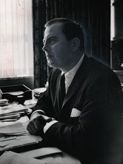 Mayor Jerome Cavanagh in a photograph taken by free press chief photographer Tony Spina in 1966.