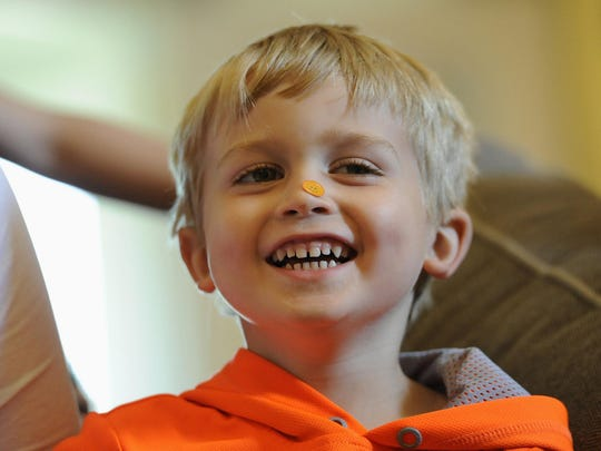 Chad Carr, 5, died, his mother said on social media on Monday. Chad was diagnosed with Diffuse Intrinsic Pontine Giloma (DIPG), a tumor located in a small area of the brain stem.