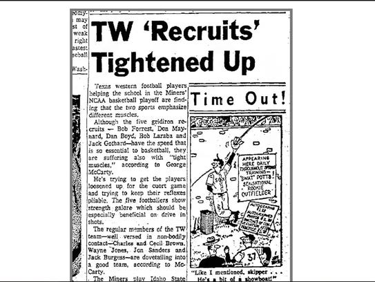 This old article discusses how the Texas Western Miners
