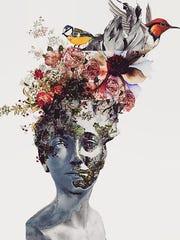 """Wild"" by digital collage artist Elyana Shamselangeroodi is on exhibit in 40UNDER40 at Shenandoah Valley Art Center in Waynesboro."
