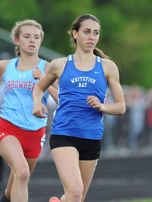Cami Davre of Whitefish Bay will compete in the 800, 1,600 and 3,200 at the WIAA State Track and Field meet, which runs Friday and Saturday in La Crosse.