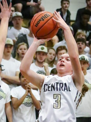 Addie Baird and the Central Magnet girls basketball team advanced in the 8-AA tourney Tuesday.
