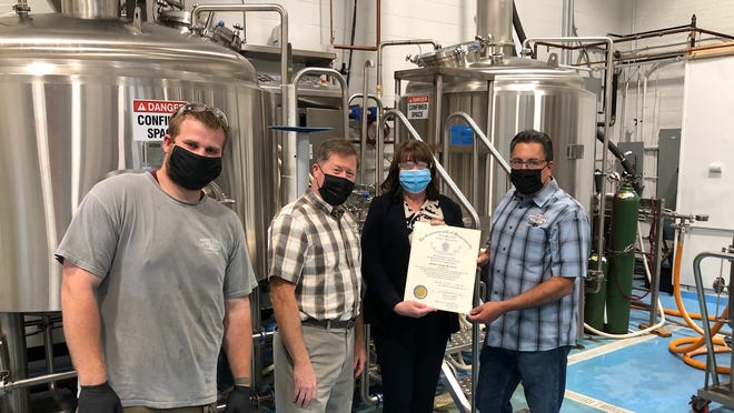 Shovel Town Brewery, located in Easton, was honored at the virtual Massachusetts Legislative Manufacturing Caucus Awards Ceremony on Oct. 27.