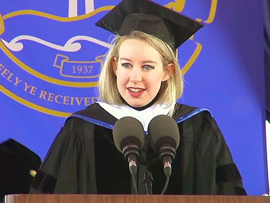 Theranos founder Elizabeth Holmes told Pepperdine University graduates that their lives should be focused on doing good for others.