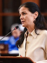 Vice Speaker Therese Terlaje on the session floor at