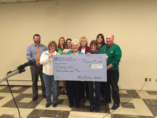 The Manitowoc County Board of Realtors recently donated