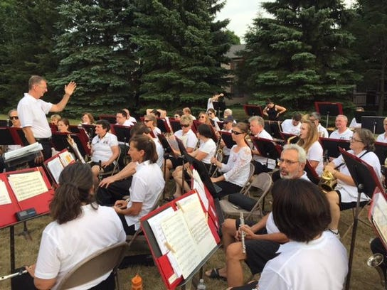 Ithaca Concert Band performs in 2016 at The First Congregational